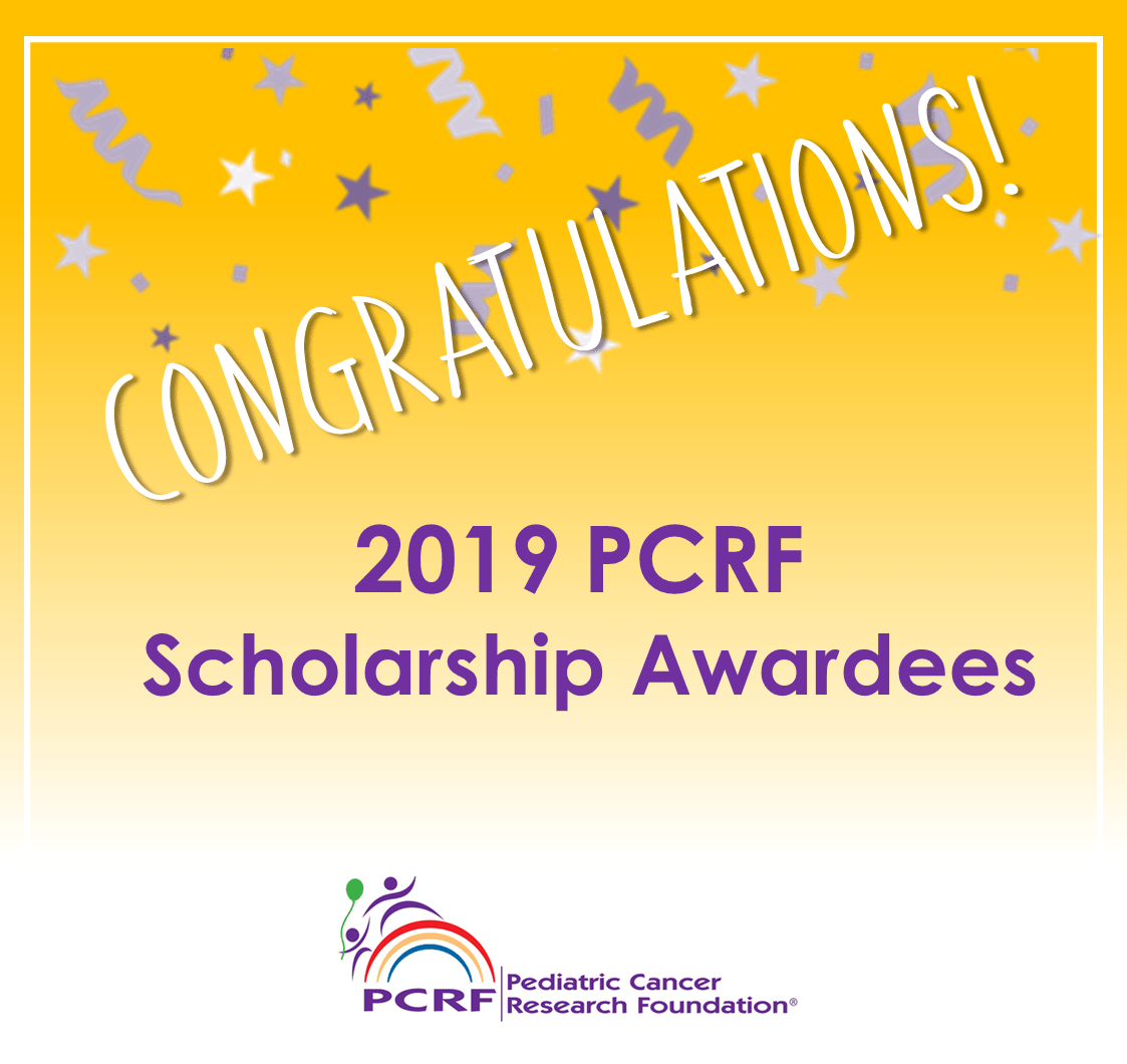 2019 PCRF Scholarship Awardees